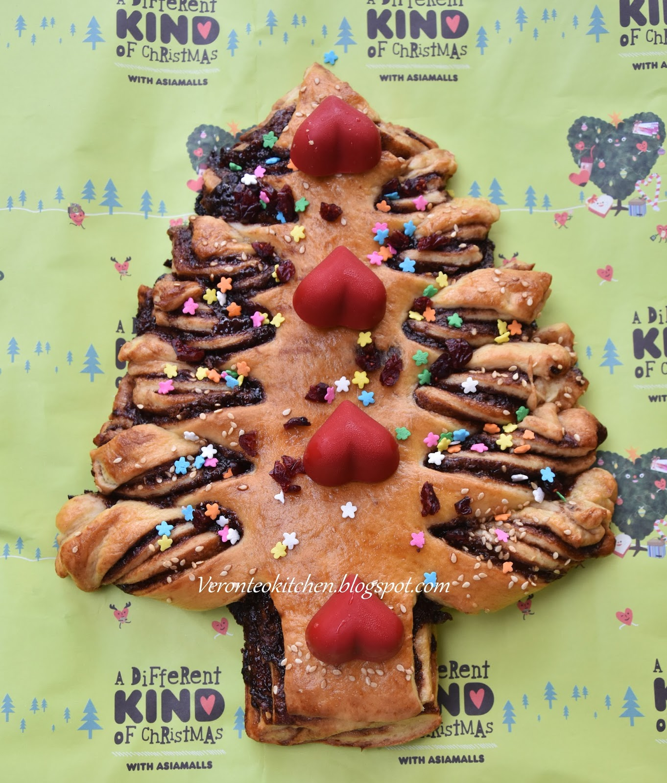 Nutella Christmas Tree.Veronica S Kitchen Christmas Tree Nutella Bread