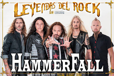 Hammerfall en Leyendas del Rock
