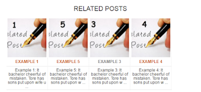 Related Post Widget for Blogger style 1