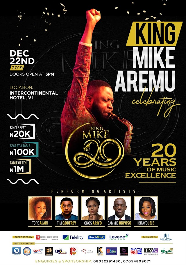 EVENT: Mike Aremu Set To Celebrate 20 Years Of Musical Excellence With A Concert
