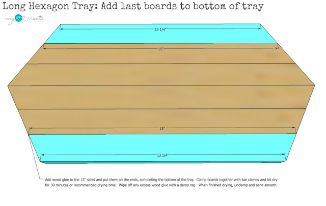 add last two pieces to tray bottom