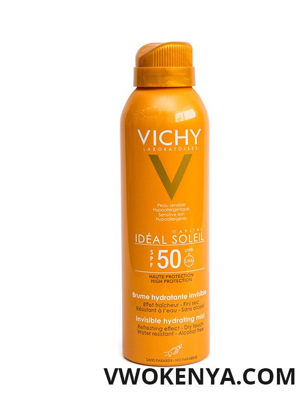 Kem chống nắng Vichy Ideal Soleil Invisible Hydrating Mist cho toàn thân dạng xịt (SPF 50 PA+++)