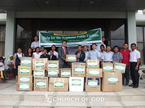 Help for the Typhoon Pablo Victims