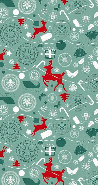 Christmas Deer Wallpaper for iPhone