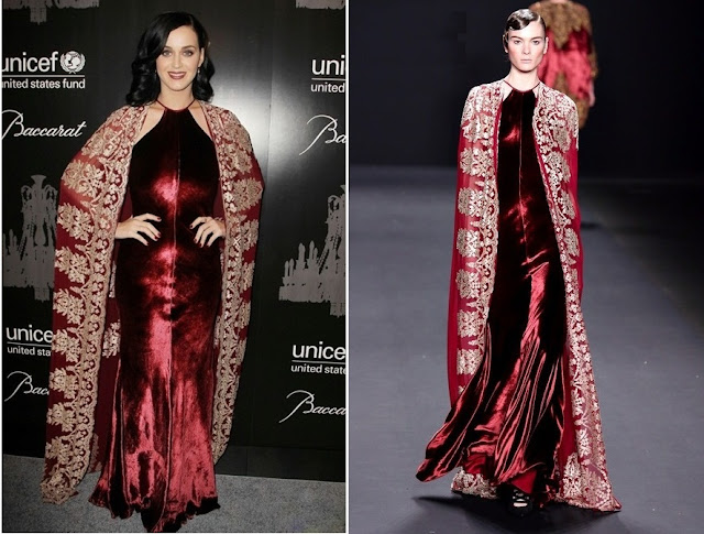 Katy Perry in Naeem Khan (Fall 2013) – 9th Annual UNICEF Snowflake Ball
