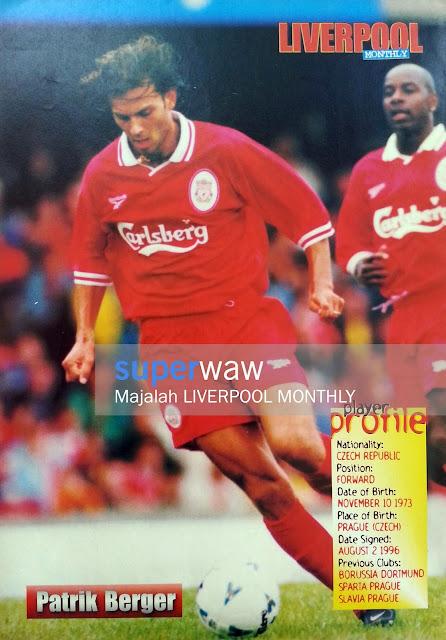 Poster Patrik Berger Liverpool 1997