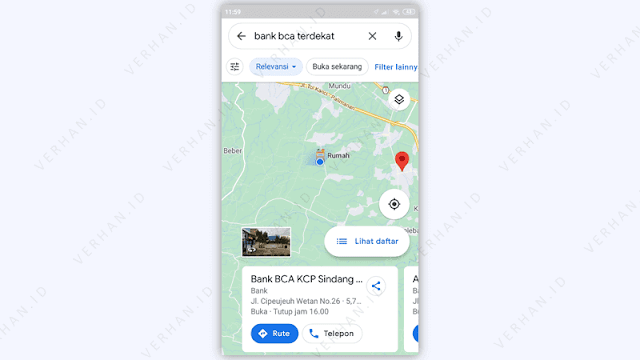 atm bca terdekat di google maps