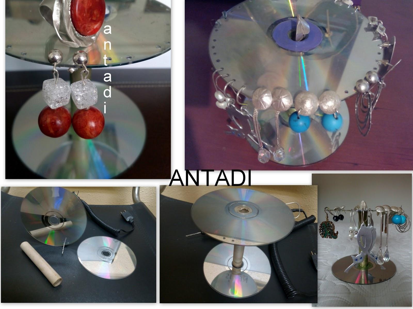 Las creaciones de antadi reciclaje cds dvds cd rayado - Reciclaje manualidades decoracion ...