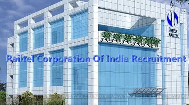 Railtel Corporation Of India Recruitment