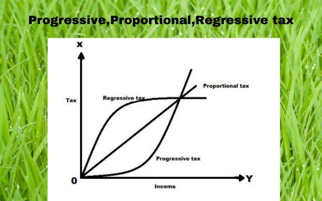Progressive, Proportional and Regressive tax, Definition and Examples