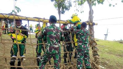 Satgas Yonif 413 Bremoro Gelar Wisata Juang Kepada Siswa PAUD Papua