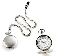 Brushed Silver Custom Pocket Watch