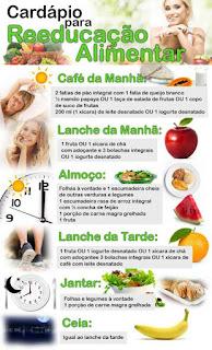 Cardápio para emagrecer com reeducação alimentar