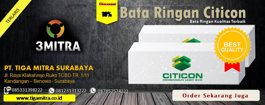 Jual Bata Ringan Citicon di Surabaya, Sidoarjo, Gresik