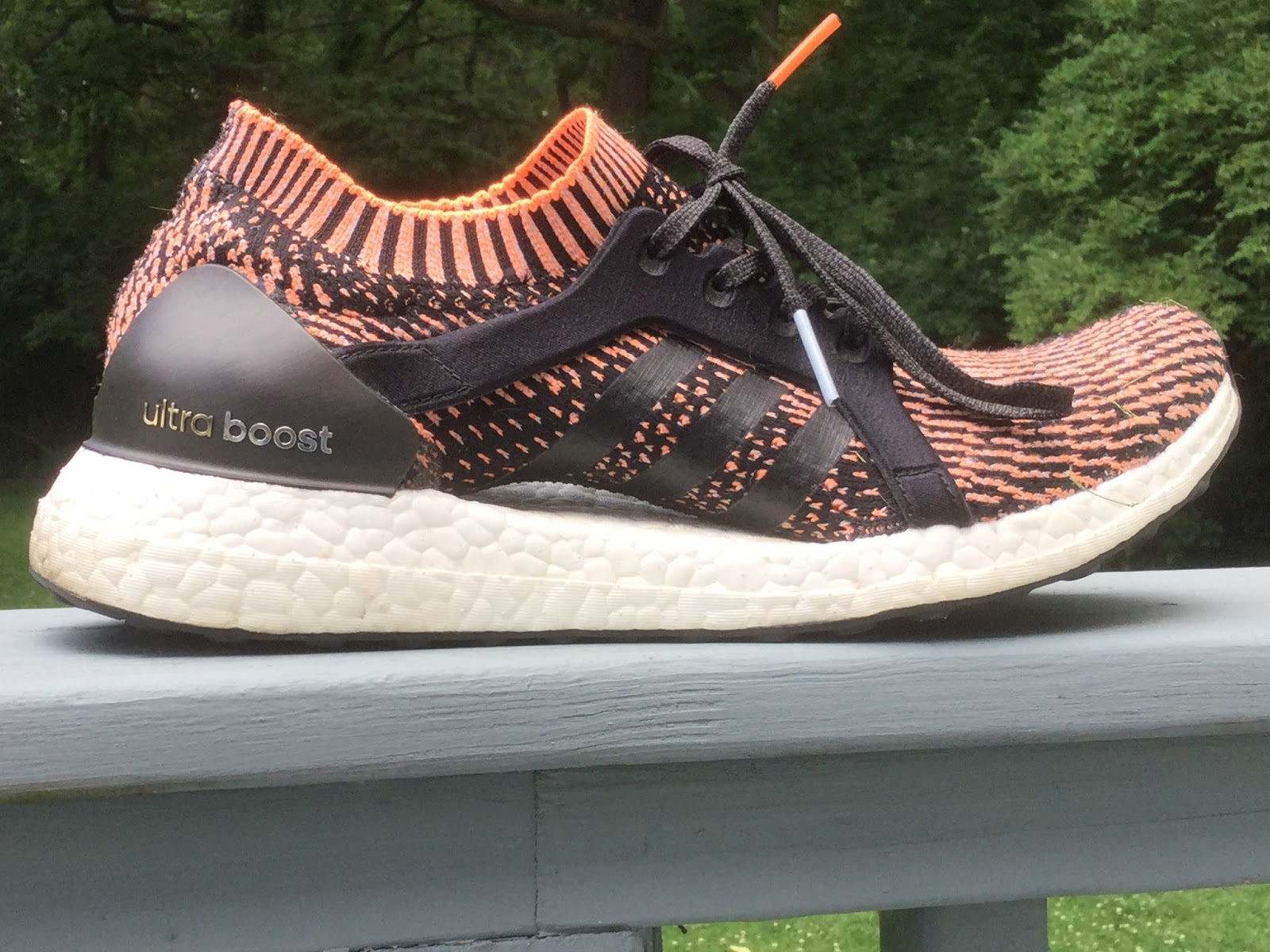 884f83022 ... UltraBoost X. 1st impression  These look like minimal shoes. They came  with a sock-upper glued to a running shoe sole which definitely was not  minimal ...