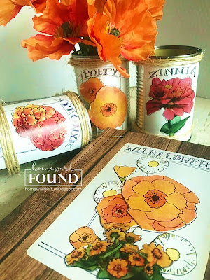 art, boho, crafting, decorating, DIY, diy decorating, farmhouse, flowers, found objects, garden art, junk makeover, junking, original designs, paper crafts, Posie Pails, re-purposing, rustic, salvaged, spring, trash to treasure, up-cycling, seed packets, garden seeds, tutorial