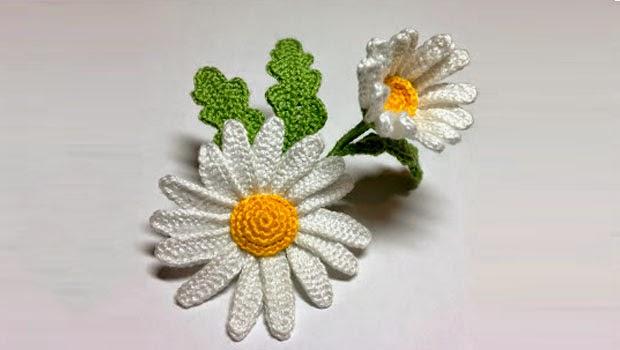 TRICO y CROCHET-madona-mía  Margaritas a crochet paso a paso en ... 06a9ea0817d