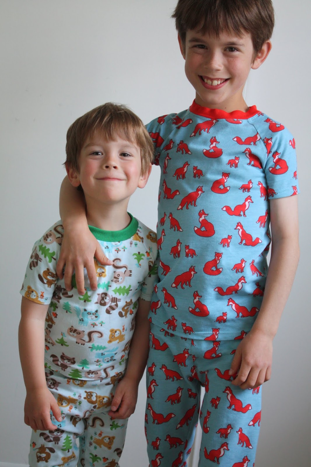 nicole at home kcw woodland creature pjs for both boys