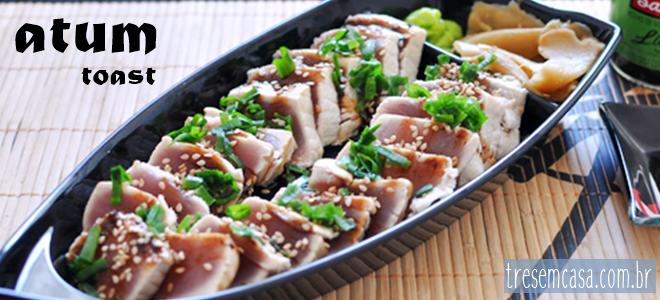 como fazer sashimi atum grelhado