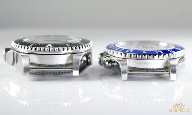Photo of Rolex Deepsea and Yacht-Master II Cases Side by Side
