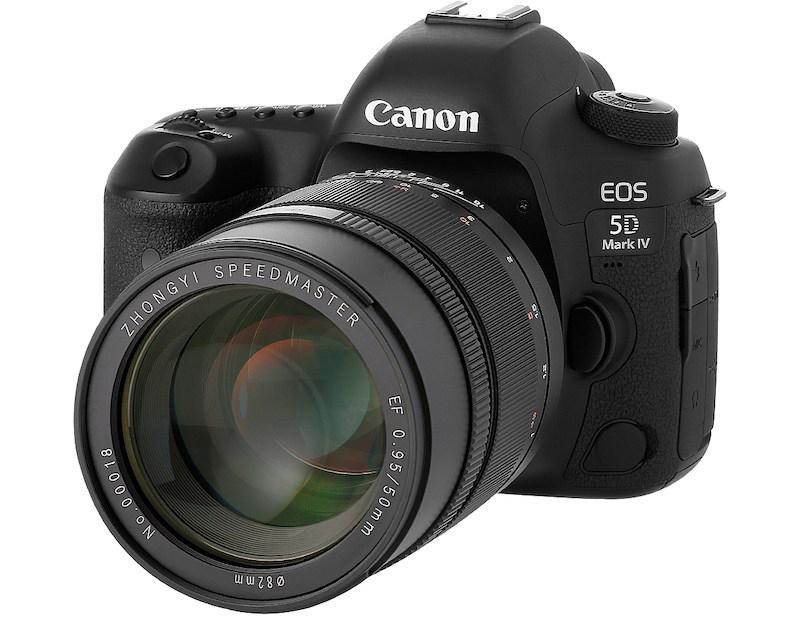 Объектив Zhongyi Speedmaster 50mm f/0.95 с камерой Canon EOS 5D Mark IV