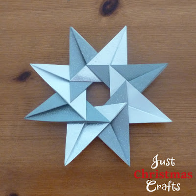 silver paper folded tea bag star