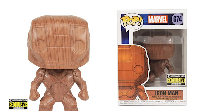 Entertainment Earth Exclusive Iron Man Wood Deco Pop! Marvel Vinyl Figure by Funko