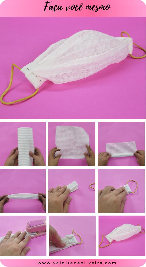 do it yourself -como fazer mascara descartavel com papel toalha