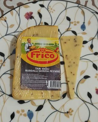 Frico Marka Tam Yağlı Hardallı Hollanda Gouda Peyniri Tadımı ve İncelemesi