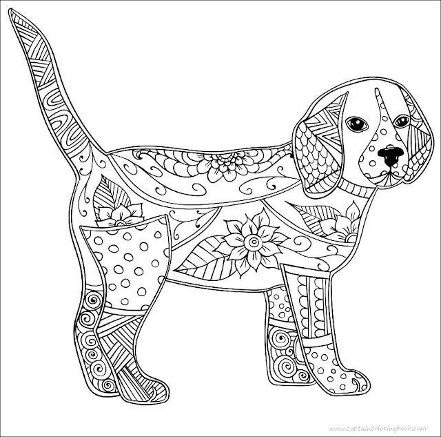 hund erwachsene antistress oder kinder malvorlagen  free