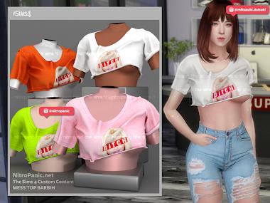 Mess Top BARBIH for The Sims 4