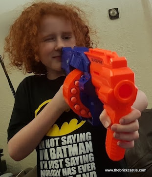 Nerf SurgeFire blaster dart weapon firing