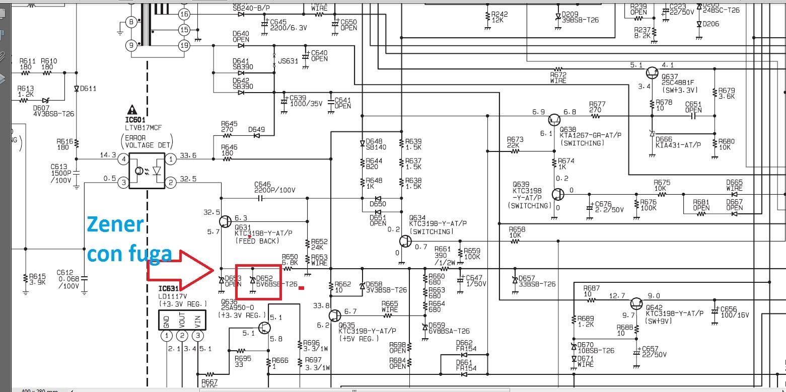 Reparacion de TV LCD Emerson Modelo LC320EMF1 Funde Fusible