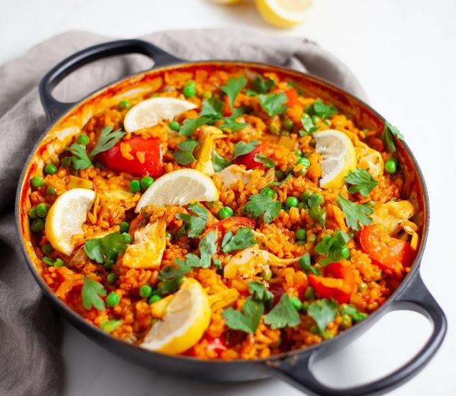 Spanish Vegan Paella #vegan #dinner