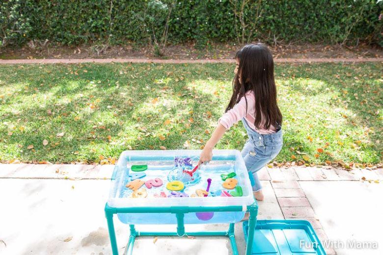 alphabet water play activity