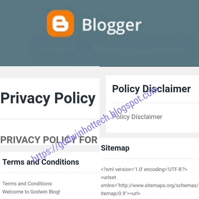 FIND AND ADD PRIVACY POLICY,ADD SITEMAP, DISCLAIMER, TERMS AND CONDITIONS AND ABOUT US ON BLOGSPOT BLOGGER BLOG OR ANY OTHER WEBSITE/BLOG.