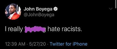 john boyega racist