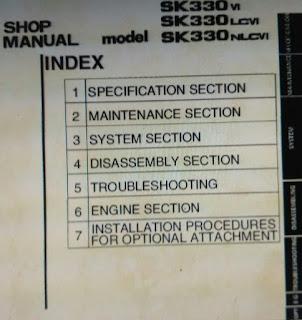 sk330Vl sk330lcVI sk330nlcVI shop manual kobelco