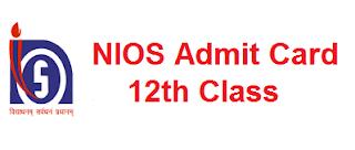 NIOS 12th Admit Card
