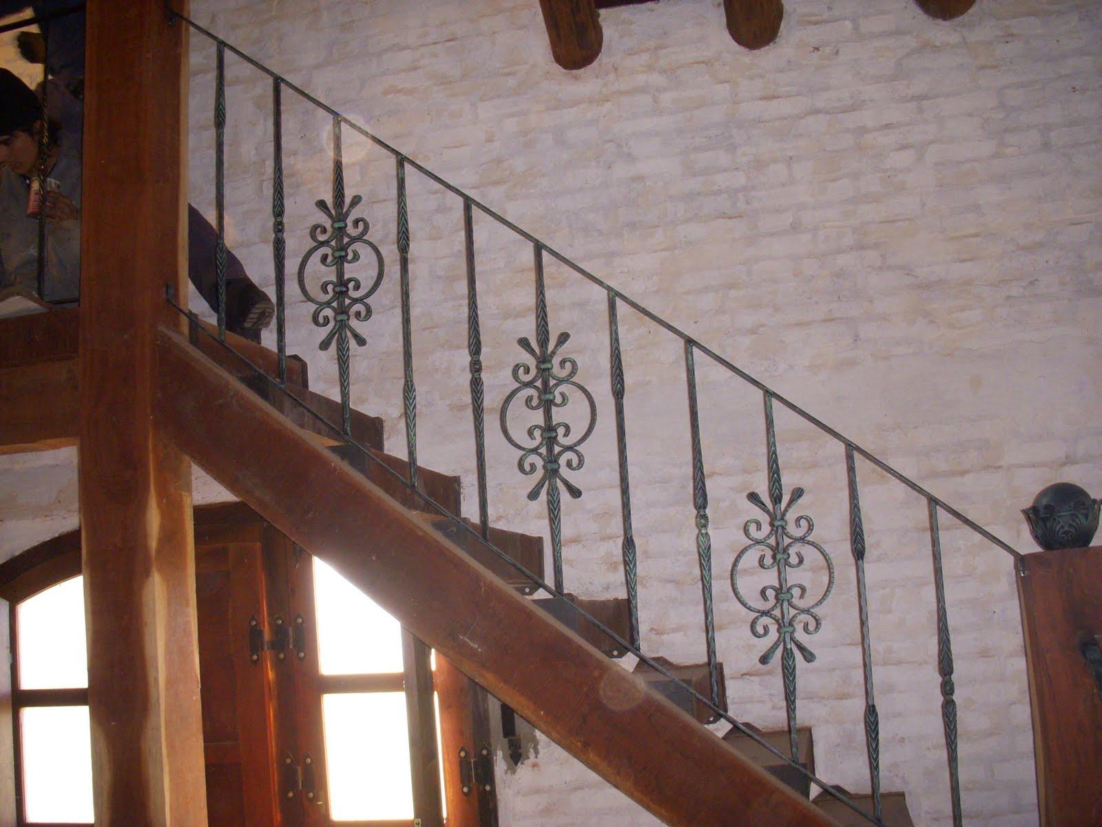 Forjados la farolera baranda de escalera de hierro forjado - Escaleras de hierro forjado ...