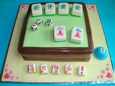 Yummy Baking Mahjong Fondant Cake D3