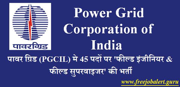 Power Grid Corporation of India Limited, PGCIL, Power Grid, Field Engineer, Field Supervisor, Graduation, Latest Jobs, pgcil logo