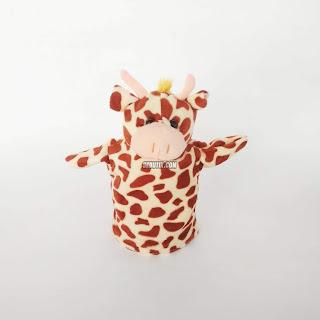 Boneka Tangan Hewan Jerapah Animal Hand Puppets
