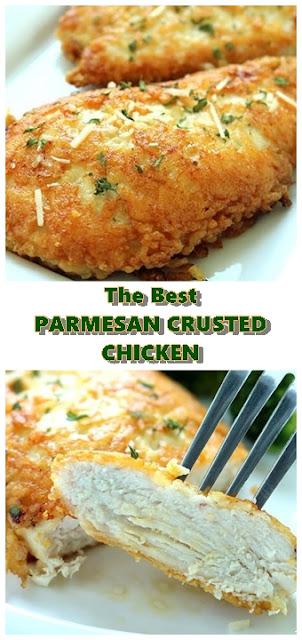 #PARMESAN #CRUSTED #CHICKEN #chickenrecipes #recipes #dinnerrecipes #easydinnerrecipes