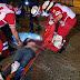 Motociclista queda herido al derrapar en Jardines de Catedral