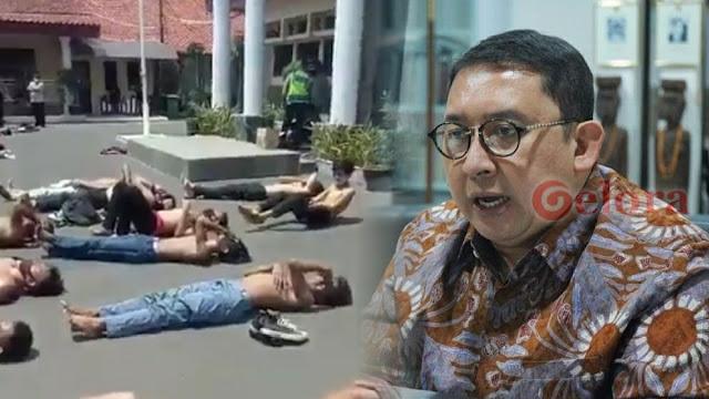 Viral Diduga Pendemo Dijemur Polisi di Aspal, Fadli Zon: Pelanggaran HAM !