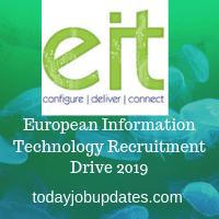 European Information Technology Recruitment Drive 2019