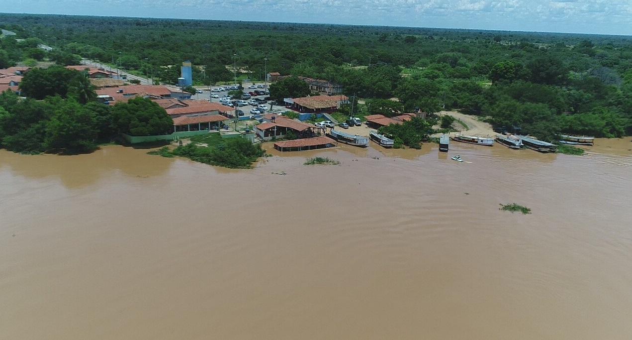 Nível do Rio São Francisco se mantém em 7,33 metros acima do normal na cidade de Bom Jesus da Lapa