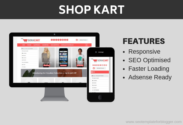 Shop Kart Shopping Blogger Template
