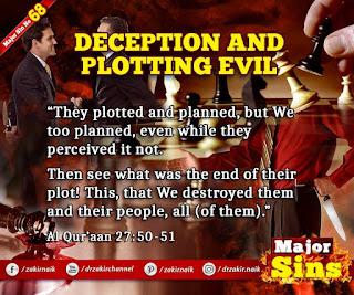 MAJOR SIN.68. DECEPTION AND PLOTTING EVIL